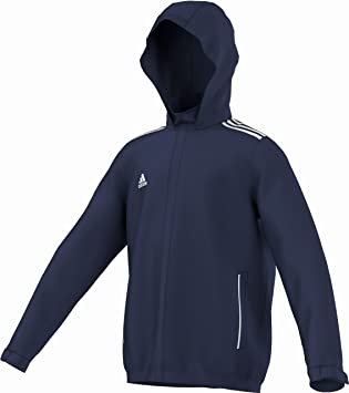 a24d6f1157f2 adidas Core 11 Children s Rain Jacket marine - weiß Size 116  Amazon ...