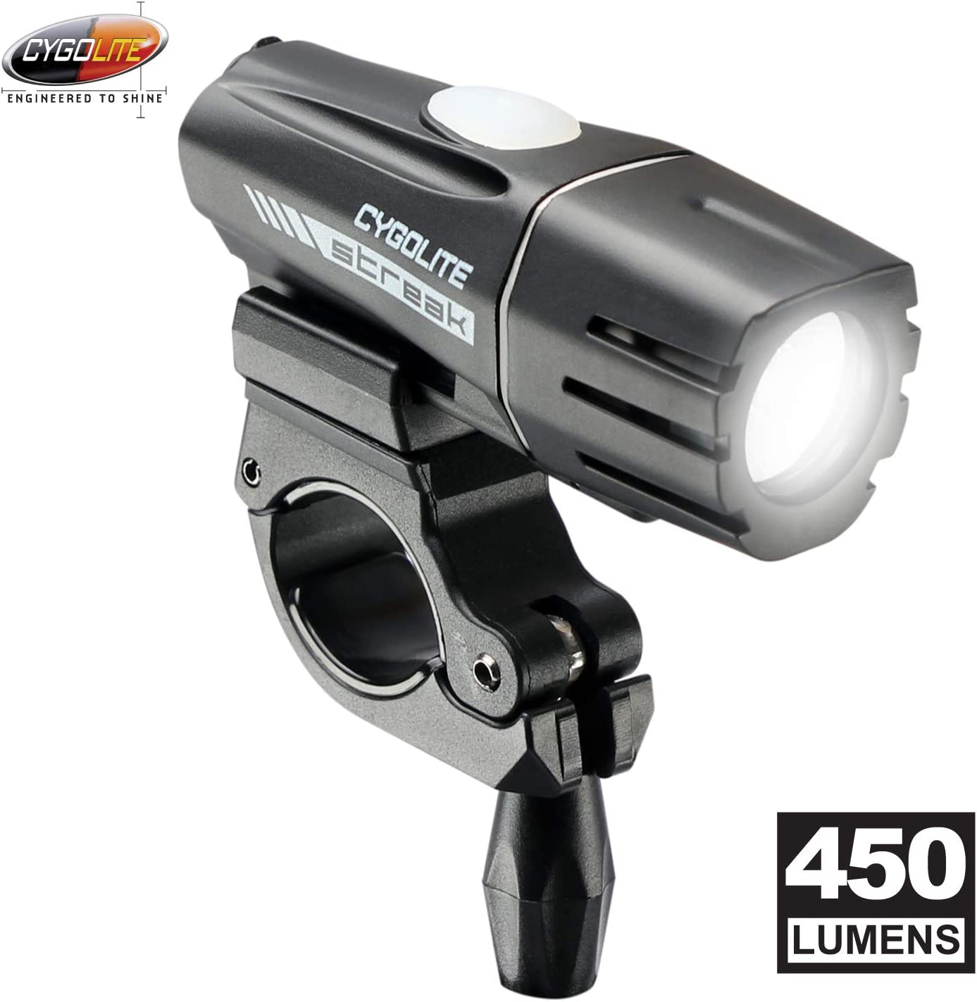 MinChen High Power LED Bike Light Bike Front Headlight 1200Lumens LED Bike Light 6 Modes with Built- in Rechargeable Battery USB Cable Included
