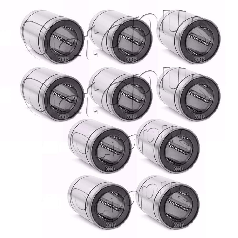 KOB 10 PC Premium LM13 UU Metal Shielded Linear Slide Bush Ball Bearing 13 x 23