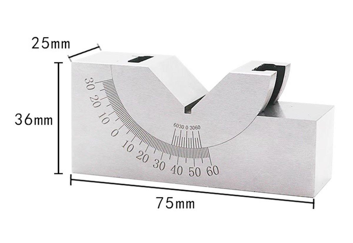 Grinder adjustable angle gauge, milling machine angle precision V-shaped pad