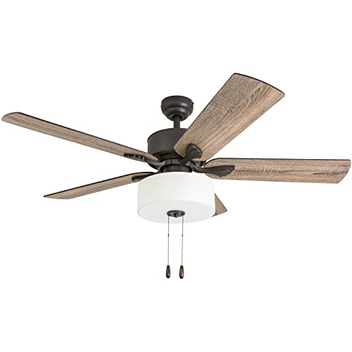 Prominence Home 50568-01 Snowden Farmhouse Ceiling Fan 52 Barnwood Tumbleweed, Aged Bronze
