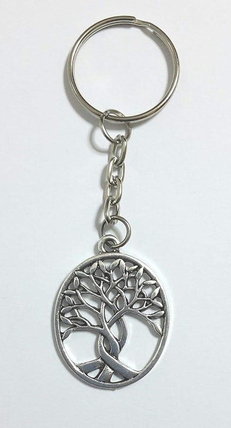 12 Piezas Llavero árbol de la Vida con Tronco Cruzado ...