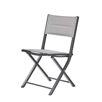 Ozalide Chaise de Jardin Pliante Bodrum Aluminium et