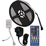 5m RGBW LED Strip Light Full Kit, 12V 5050 600LEDs Flexible Self Adhesive Tape, with 40 Key Remote Controller + AU Plug Power Supply (IP65 Waterproof, RGBW)