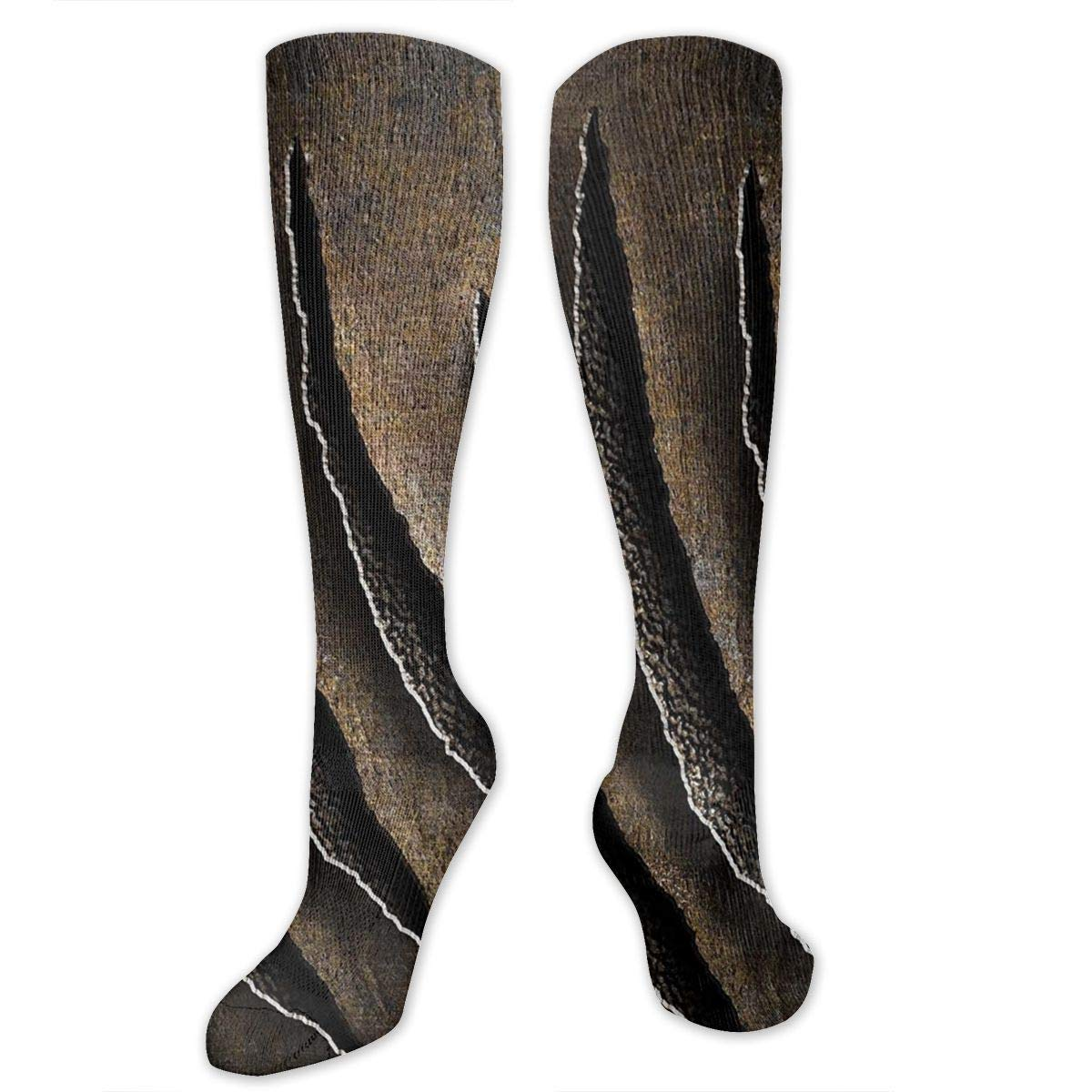 Chanwazibibiliu Wild Claws Sctrach Damage Mens Colorful Dress Socks Funky Men Multicolored Pattern Fashionable Fun Crew Cotton Socks
