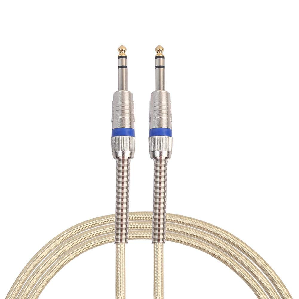 Computer Cables Nylon Braided 6.3mm Aux Male to Male Electric Guitar Audio Extension Cord Cable Cable Length: Rose Gold 5M