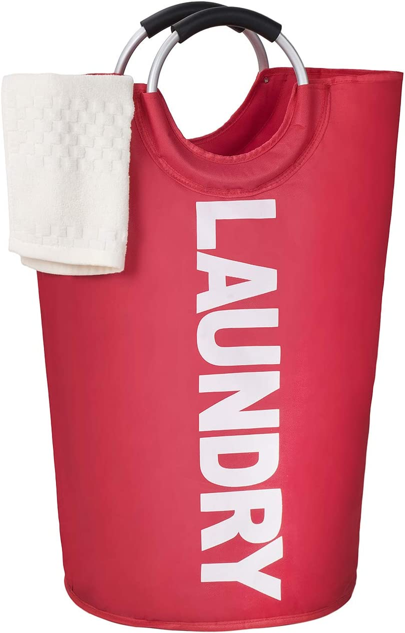 Large Laundry Hamper, 82l, Collapsible Fabric, Durable, Waterproof for Bathroom, Bedroom, Dormitory, for Kids Room Toy Storage. (Red). Nice Price!
