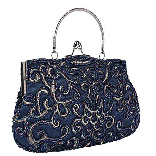 Beaded Bridal handbag Party Purse C Bags Wedding Evening Clutch EPLAZA Women 5wnaqX7