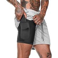 iUnisy Pantalones Cortos de Secado rápido para Entrenamiento Deportivo de Gran tamaño para Hombres