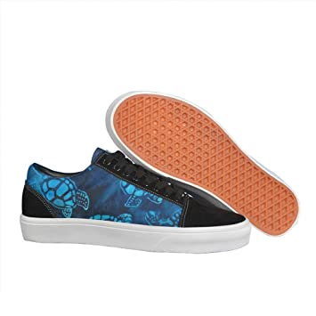Tropical Small Turtles Women's Casual Sneakers Slip-On Lo-Top Low Top Simple