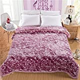 Blanket Plush Nap Faux fur Lazy blanket Travelling Super soft Warm Extra silky-B 200x230cm(79x91inch)