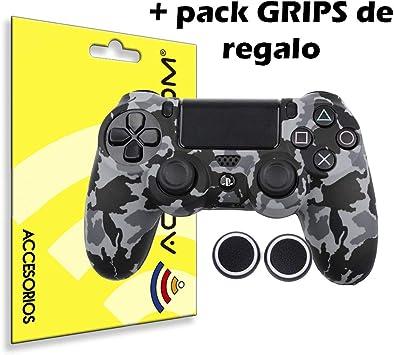 actecom® Funda Carcasa + Grip Silicona Camuflaje Gris Mando Sony PS4 Playstation 4: Amazon.es: Electrónica