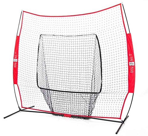 Bownet Big Mouth Colors 7 x 7 Portable Training Net with Frame, Red