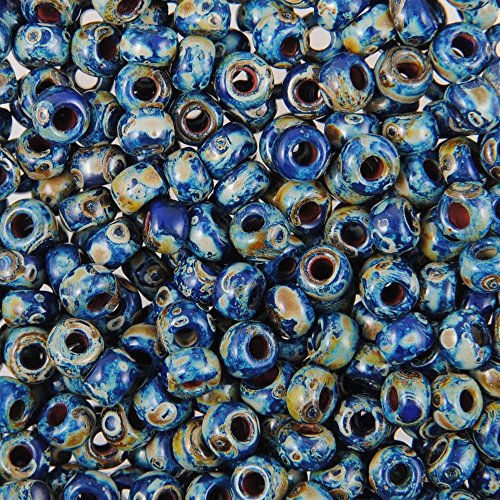 Cobalt Blue Picasso -Size 6° Japanese Seed Beads