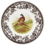 Spode 1607255 Woodland Luncheon Plate, Pheasant