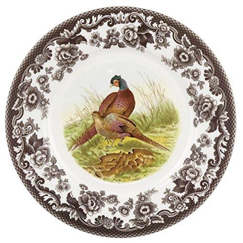 Spode 1607255 Woodland Luncheon Plate, Pheasant (Plates Woodland China)