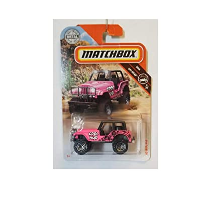 Matchbox MBX 60 Jeep 4 X 4 Off-Road 76/100 Pink Cool Mud: Toys & Games