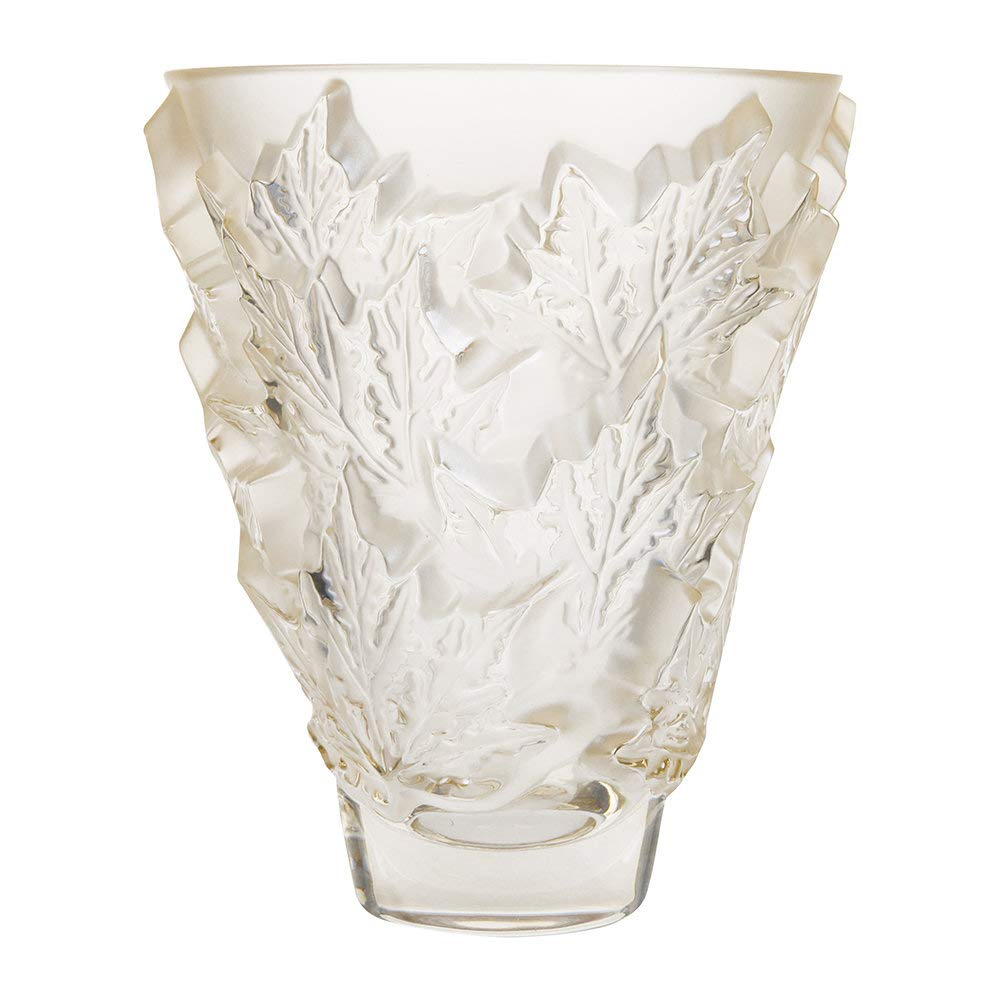 Lalique Champs-Elysees Vase - Gold Luster - Small by Lalique (Image #2)
