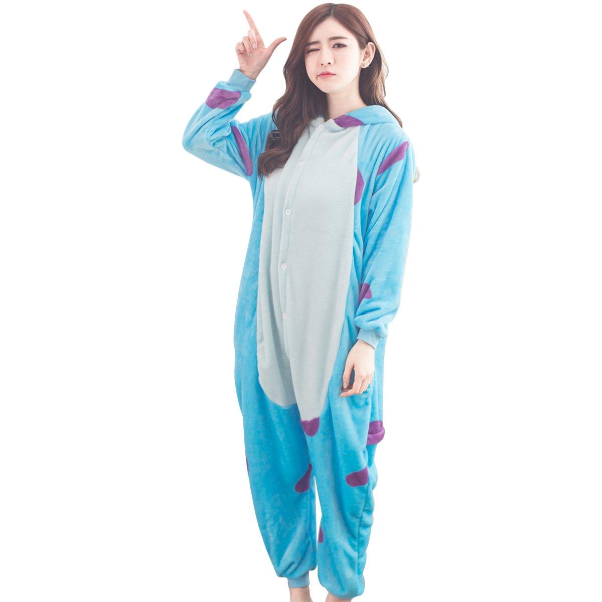 PADGENE Pyjama Animaux Cosplay Halloween Déguisement Adulte Femme Homme Unisexe, Ane, Small 09SGYF33-LZ-S