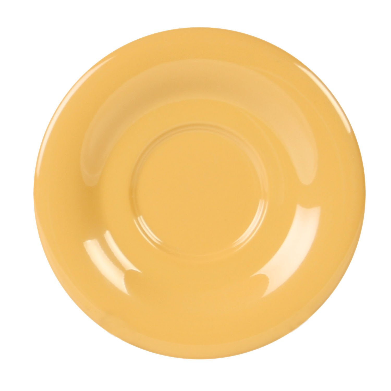 Excellanté Yellow Melamine Collection 5-1/2-Inch Saucer, Yellow, 12-Piece