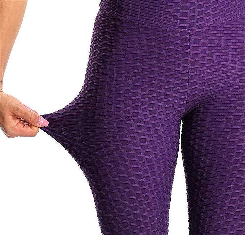 AISCOOL Womens Ruched Butt Lifting High Waist Yoga Pants Fashion Chic Sports Stretchy Leggings