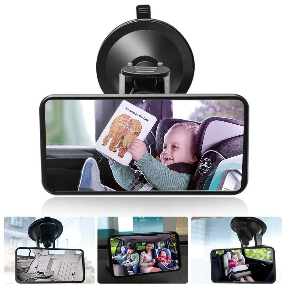 DAMIGRAM Miroir Siège Arrière de Bébé, Rétroviseur Incassable de Voiture pour Voir Enfant, Arrière Miroir de Voiture pour Bébé avez une Rotation 360° Shenzhen Antop Technology. Ltd