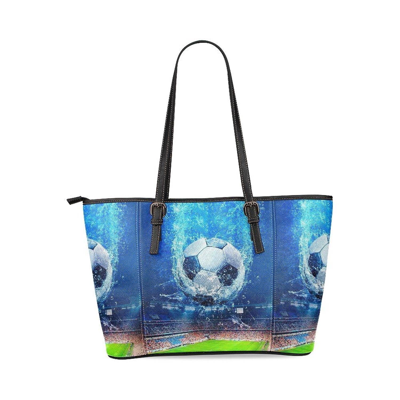 Football Custom PU Leather Large Tote Bag/Handbag/Shoulder Bag for Fashion Women /Girls