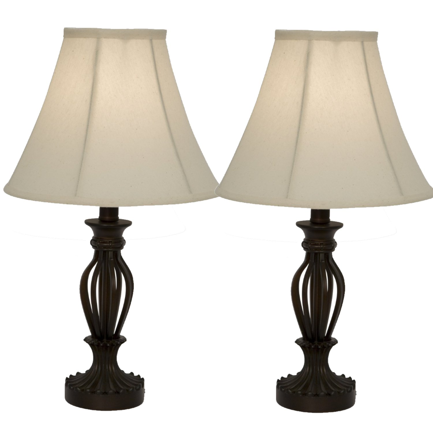 Lamp sets amazon traditional iron scrollwork table lamps bronze table lamp set 2 pack geotapseo Choice Image
