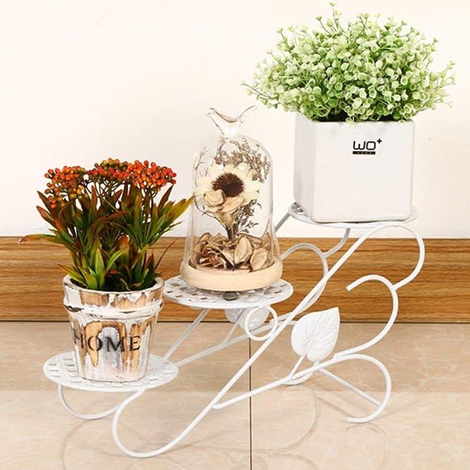 GONGFF Soporte de Flores y Plantas de Interior/Exterior de 3 ...