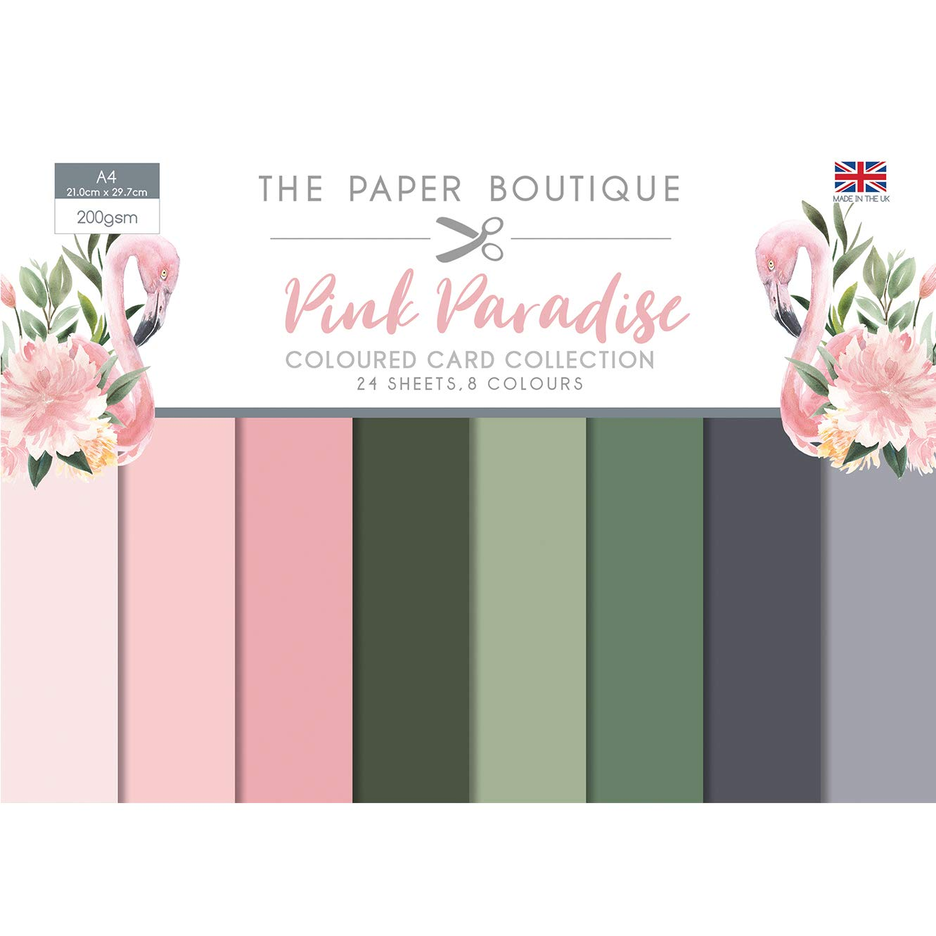 The Paper Boutique Pink Paradise Colour Card Collection