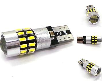 LED T10, W5W, W10W, W16W, W3W, R10, 12V-24V, CANBUS, 330lm: Amazon.es: Coche y moto