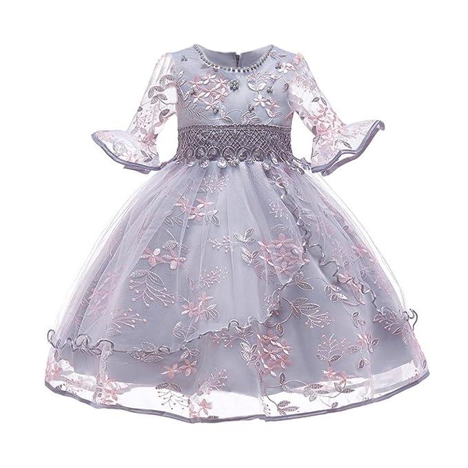 Vestidos Niña, ASHOP Vestido de Niñas Boda Fiesta de Princesa en Oferta Casual Estampado Floral