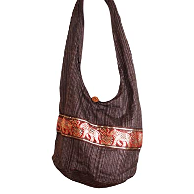 Amazon.com: Hippie Elephant Sling Crossbody Bag Purse Thai Top Zip ...