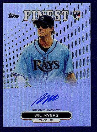 (2013 Topps Finest Wil Myers Autographed Signed Card Refractor 14906 - Baseball Slabbed Autographed Cards )