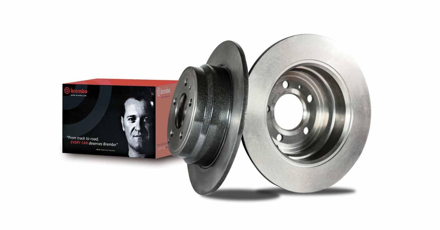 Brembo 08.9975.21 Rear UV Coated Brake Disc, Set of 2 Brembo S.p.A.