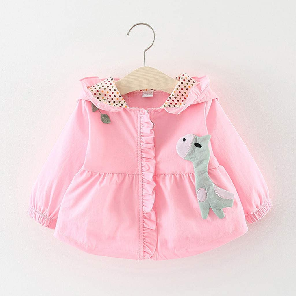 WARMSHOP Infant Baby Boys Girls Windproof Coat Cartoon Ear Hooded Outwear Casual Clothes 1-5 Years