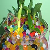 Water Beads, Beads Crystal Soil Water Bead Gel [Rainbow Mix] For Kids Tactile Sensory Experience, Wedding Centerpiece Vase Filler, Plant decoration (35000 Pcs)