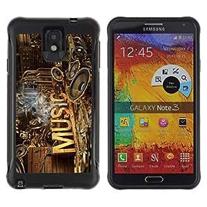 Suave TPU GEL Carcasa Funda Silicona Blando Estuche Caso de protección (para) Samsung Note 3 / CECELL Phone case / / Music Speakers Art Love Rustic Band /