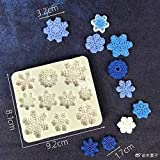 3D Snowflake Fondant Mold£¬ Silicone Mold for