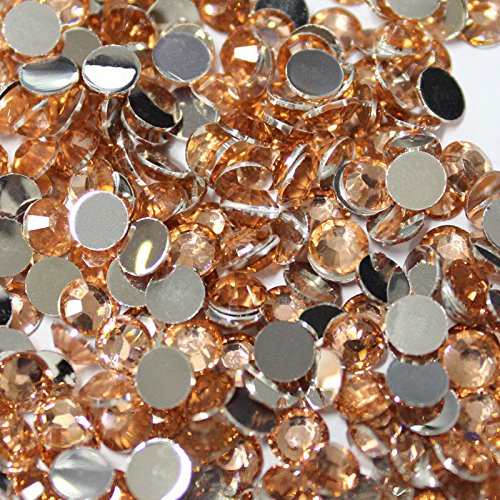 Mirror Facet Round Bead - 10000 Pcs 3mm 14 Facets Resin Round Rhinestone Flat Back Bling Shine Champagne Color 07
