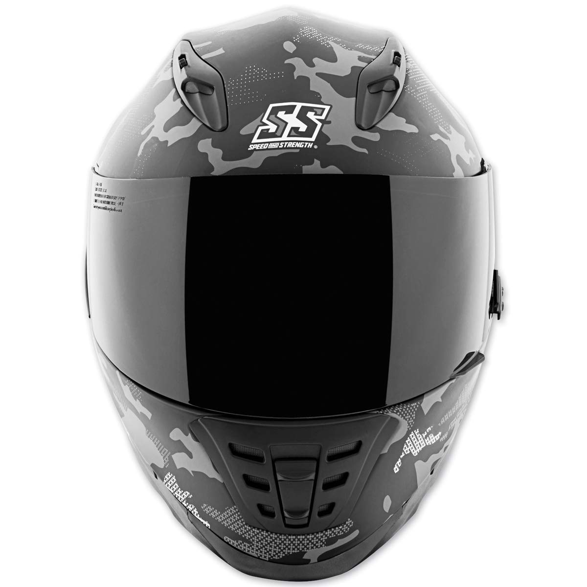 15534cc2 Amazon.com: Speed and Strength Unisex Adult SS1600 Straight Savage  White/Black Full Face Helmet 884530: Sports & Outdoors
