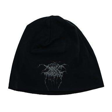 69cf12710ef Amazon.com  Darkthrone True Norwegian Black Metal Dual Sided Beanie Hat  Band Logo Apparel  Clothing