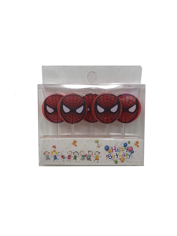 AEX 5pcs Clásico Spiderman Mini Figura Pastel de cumpleaños ...