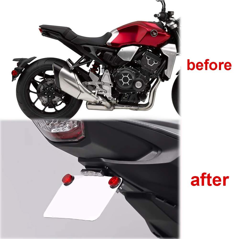 Compatible with OEM//Stock Turn Signal With LED License Plate Light For HONDA CB1000R 2018 2019 2020 Xitomer CB1000R Fender Eliminator//Tail Tidy