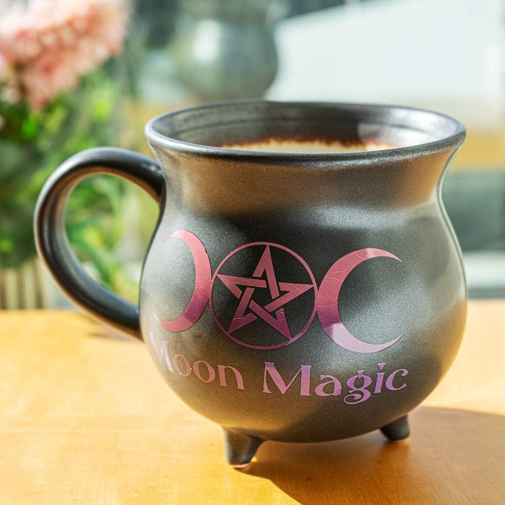 Pacific Giftware Moon Magic Witch Cauldron Glazing Ceramic Porcelain Coffee Mug Soup Bowl