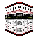 Lockdown Magnetic Strips for School Lockdowns - 10 Pack - School Lockdown Magnets - Quick and Easy Way to Lock Doors and Secure Classrooms Fast - Emergency School Safety and Office Security Solution
