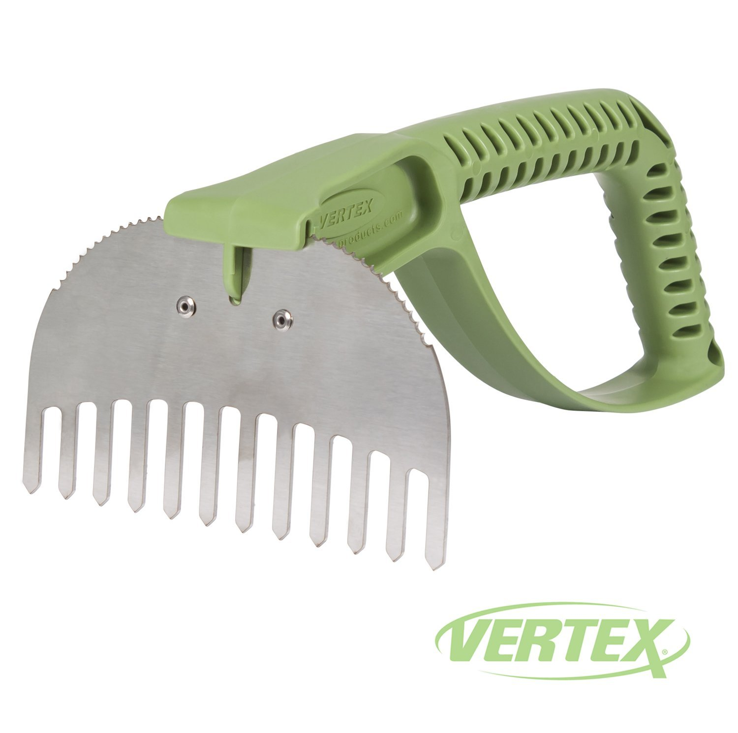 NaturalGripx2122; Egonomic Rake Garden Tool by Vertex174; with Stainless Steel Head and Comfort Grip Handle - Made in USA - Model P1405