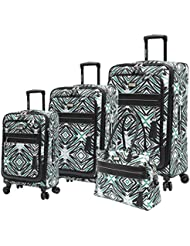 Steve Madden Tribal Luggage 4 Piece Expandable Suitcase With Spinner Wheels