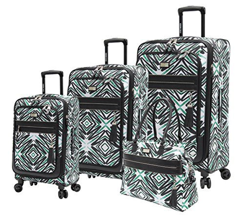 Steve Madden Tribal Luggage 4 Piece Expandable Suitcase With Spinner Wheels by Steve Madden Luggage