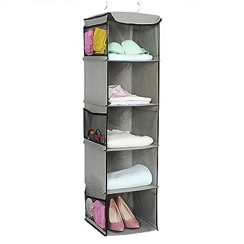 Gentil Hanging Wardrobe Storage Shelve Multi Layer Hook Dustproof Pocket Closet  Wardrobe Handbag Organiser Sundries Storage